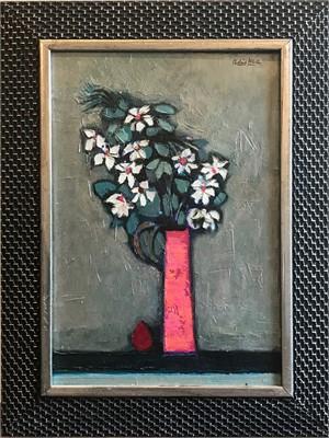 Red Vase Floral