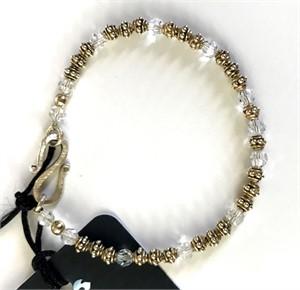 Bracelet - Swaroski Crystal & Gold Vermeil  #8016, 2019