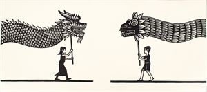 Niños con Dragon y Quetzalcoatl (16/50), 2020