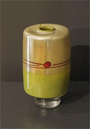 Enso Drum Vase Small Pea Green