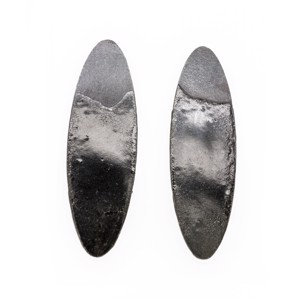 Black Oval Dip Earrings