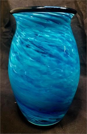 Ocean Blue Vase, 2018