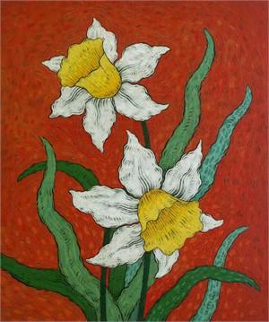 White Daffodils 2
