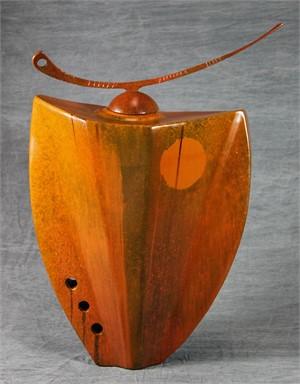 Vessel in Sunset Orange by Mark Dickson