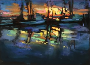 Shrimp Boats by Susan Mayfield