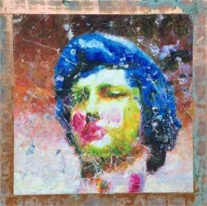 Man With Blue Hair (Zeus) by Mark Gaskin