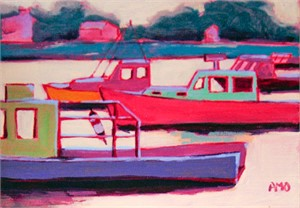 Pastel lobster boats