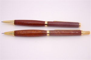 Lacewood Pen + Pencil Set by Darrel Kellerman