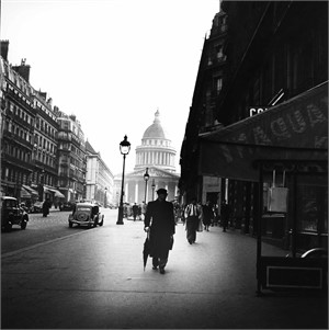 No. 022 Street Scene Near la Madeleine, Paris, France, 1950