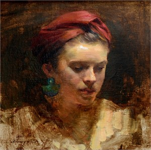 Girl with Blue Earring