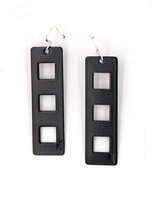 Black Powder-Coated Aluminum Earrings