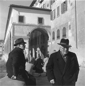 No. 097 Two Men on Street, Florence, Italy
