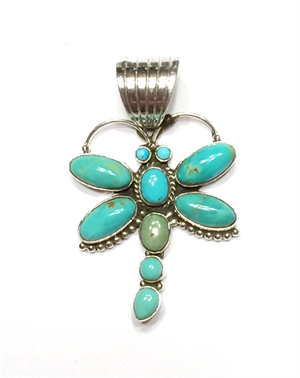 Pendant - Medium Turquoise Dragonfly
