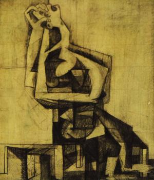 Untitled (Cubist Figure), c. 1949