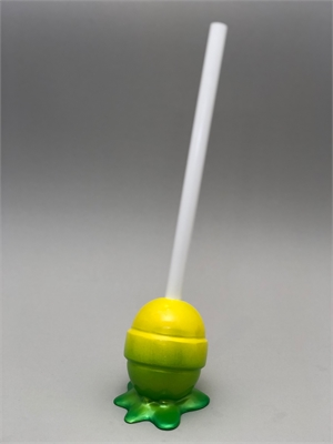The Sweet Life, small, yellow/green ombré Lollipop, 2019