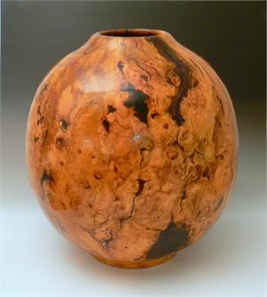 Cherry Burl Spherical Hollowform