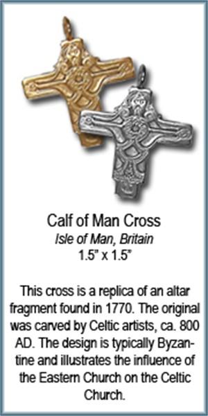 Pendant - Bronze Calf Of Man Cross 7566, 2019
