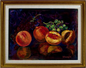 Still Life With Peaches & Grapes, 2001