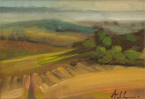 Limoux Vineyard I (Painted in France)