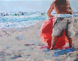 """""""Beach Ball Baby"""" by Jenny Grumbles"""
