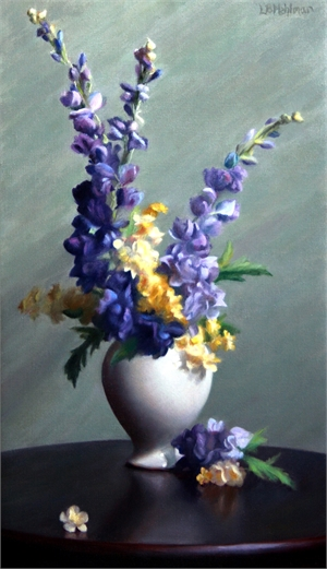 "LYNNE B MEHLMAN, ""Harmony of Violets and Blues"""