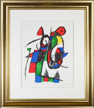 "Original Lithograph II from ""Miro Lithographs II, Maeght Publisher"", 1975"