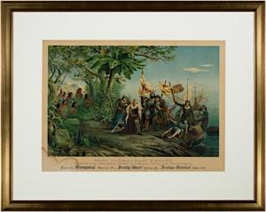 Columbus Landing in America, c1892