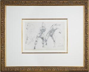 Homage a Leonardo d'Vinci (Horse & 2 Figures from De La Bataille Vol. I), 1978