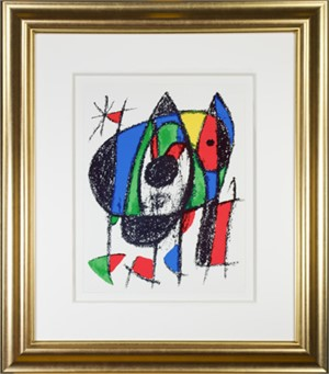"Original Lithograph V from ""Miro Lithographs II, Maeght Publisher"", 1975"