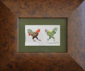 Brown and Green Roosters, 2020