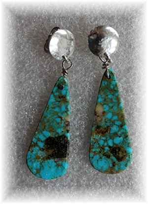 Turquoise Teardrop Earrings, 2019