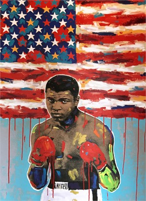 Muhammad Ali Drip Flag