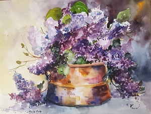Copper and Lilacs by Diane Stolz