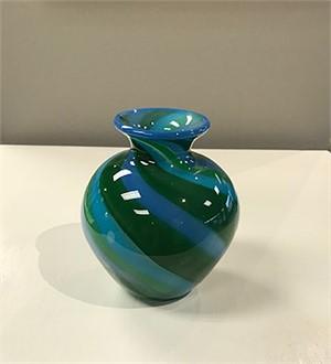 Blue & Green Canes Vase