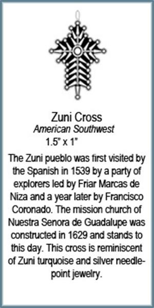 Pendantt - Zuni Cross - 7757, 2019