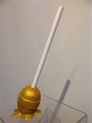 The Sweet life Small Gold Sparkle lollipop, 2019