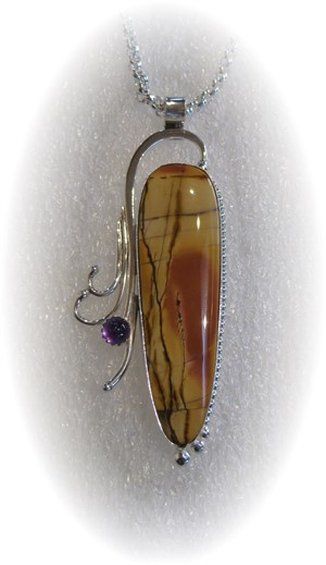 Cherry Creek Jasper with Amethyst