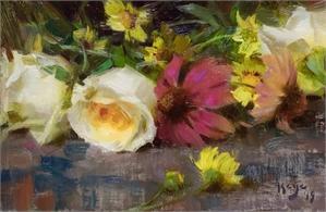 Roses & Echinacea