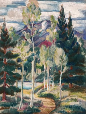 Untitled, Path Through the Trees, c. 1945