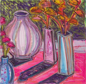 Carnations and Adler Vase II
