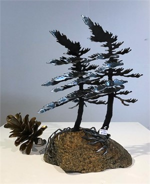 Two Pines on Rock  3382
