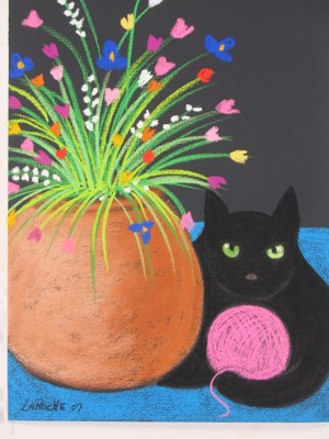 SOLD 'Black Cat Knitting'