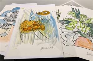 Barbara Kuebel Works on Paper FLOWERS, 2020
