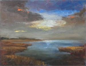 Waterway at Sunset