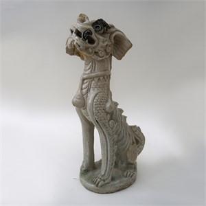 ANNAMESE THANH HOA WHITE GLAZED MYTHICAL BEAST, Vietnamese, 15th century