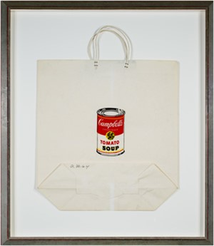 Campbell's Soup Can on Shopping Bag (To be sold as pair with 111d-Lichtenstein), 1964
