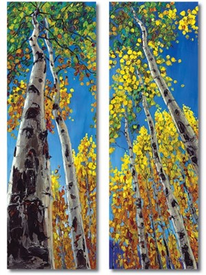 Skyward (Diptych) by Jennifer Vranes