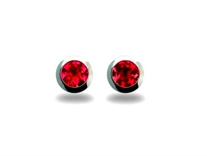 Earrings - Sterling Silver & Garnet E3136GA
