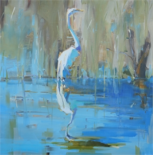 Morris Lake Heron by Kathleen Broaderick