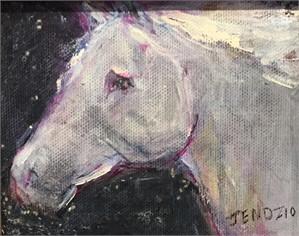 Gold & White Horse